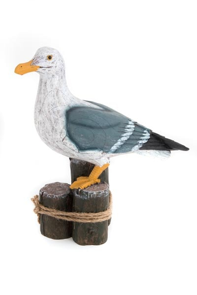 Seagull Perched On Posts Globe Imports