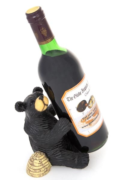Honey Bear Wine Bottle Holder Globe Imports