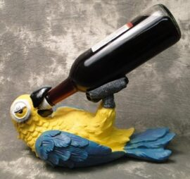 Drinking Parrot Wine Bottle Holder