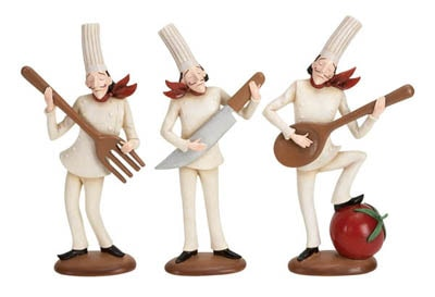 Assorted Musician Chef Figurine