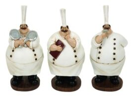Assorted Fat Chef Figurine