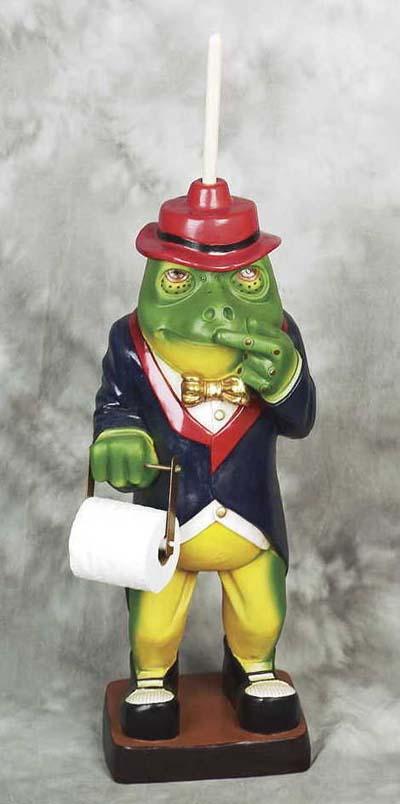 Frog Toilet Paper Holder Globe Imports