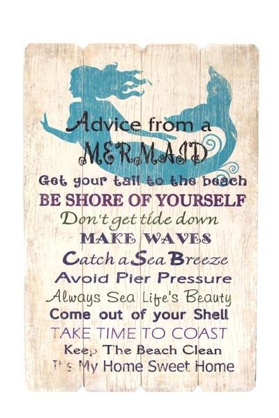 Mermaid Advice Sign Globe Imports