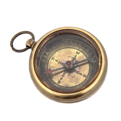 Antique Brass Titanic Compass Globe Imports