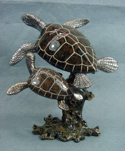 Sea Turtles Figurine Globe Imports