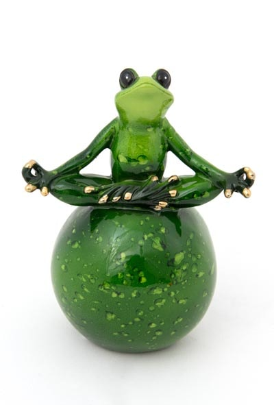 Assorted Green Zen Frog Globe Imports