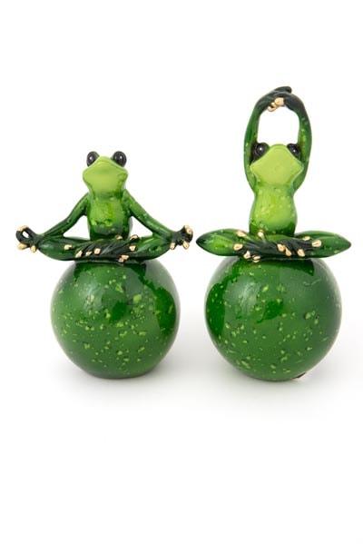 Assorted Green Zen Frog Globe Imports