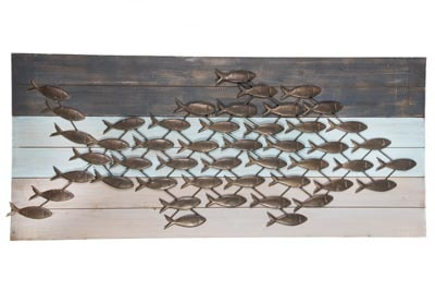 Wood And Metal Fish Wall Decor Globe Imports