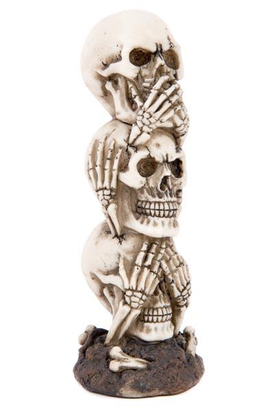Stacked No Evil Skulls - Globe Imports