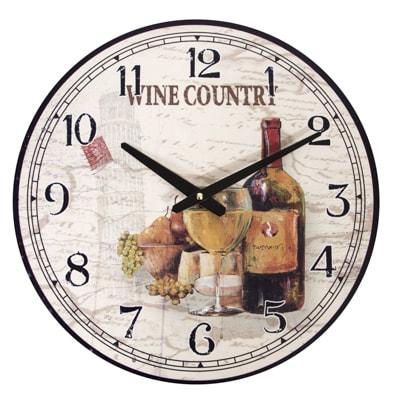Wine Country Wall Clock Globe Imports