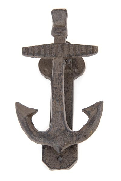Nautical anchor door knocker globe imports - Anchor door knocker ...