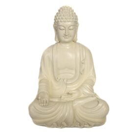 Ivory Color Seated Buddha