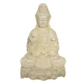 Ivory Color Seated Kwan Yin