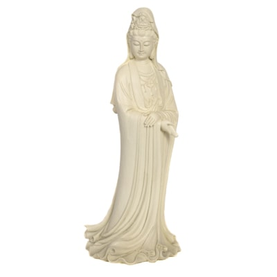 Ivory Color Standing Kwan Yin