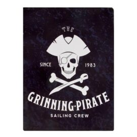 Metal Grinning Pirate Sign