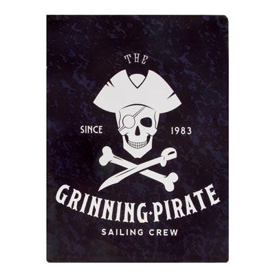 Metal Grinning Pirate Sign