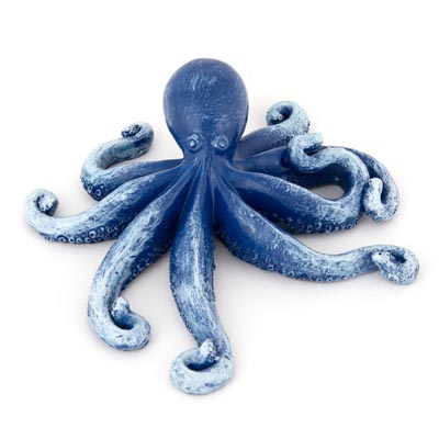 Navy Blue Octopus FIGURINE