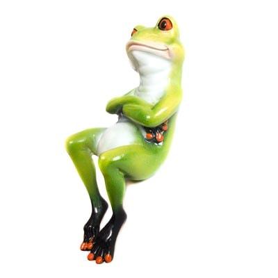 Frog Shelf Sitter Globe Imports