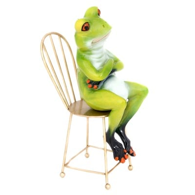 Frog Sitting On Chair Globe Imports
