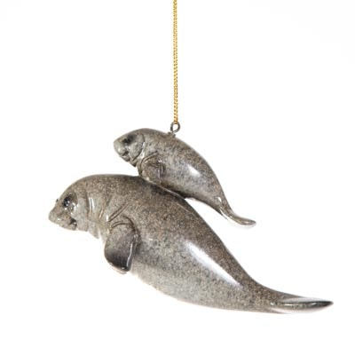 Manatees Hanging Ornament