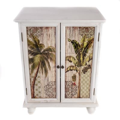 Palm Trees Cabinet Globe Imports