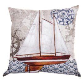 Sailboat Nautical Pillow