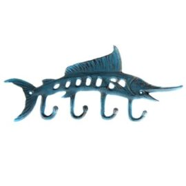 Verdigris Marlin Key Hook