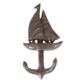 Sailboat and Anchor Coat Hooks