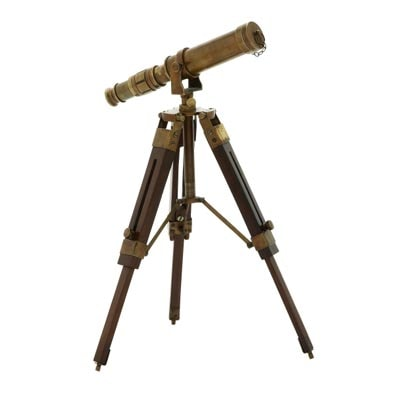Antique Reproduction Telescope on Stand