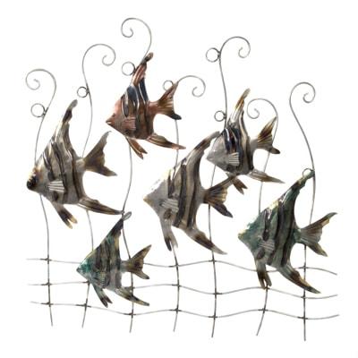 Metal Angelfish Wall Decor