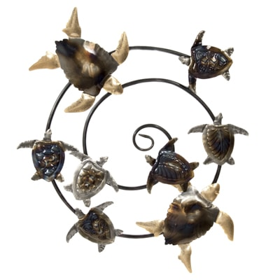 Sea Turtles Round Wall Decoration