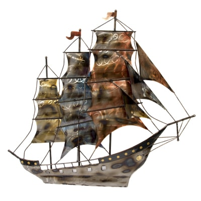 Clipper Ship Metal Wall Decor