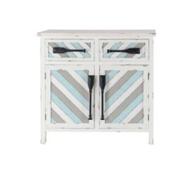Chevron Pattern Nautical Cabinet