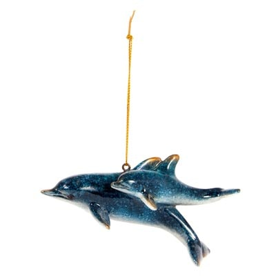 Dolphins Hanging Ornament