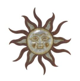 Metal Sun Face Wall Decor