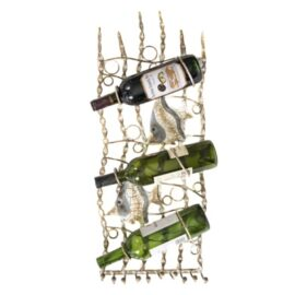 Wall Wine Rack with Fish