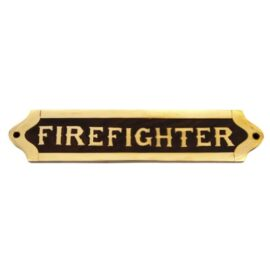 Wood and Brass Firefighter Plaque