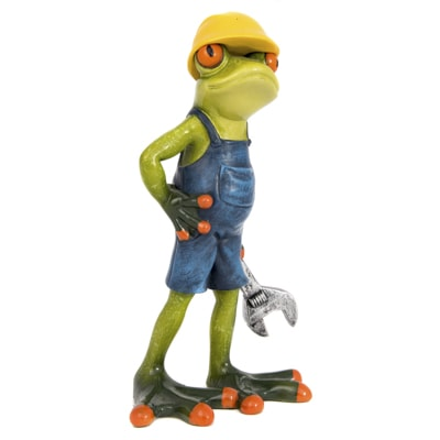 Worker Frog With Wrench Globe Imports
