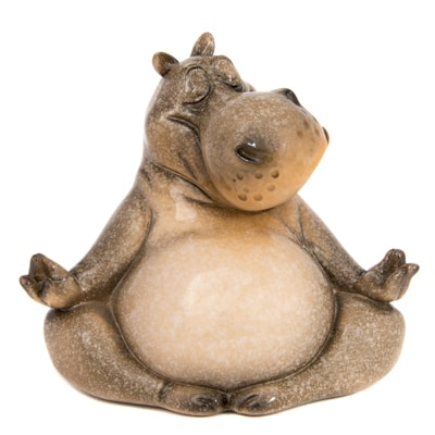 Meditating Hippo Figurine