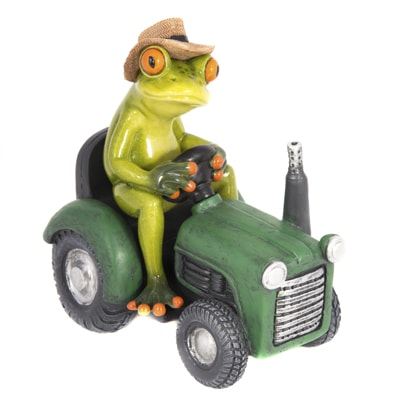 Farmer Frog on Tractor