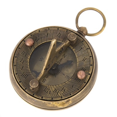 Antique Sundial Pocket Compass Globe Imports