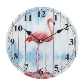 L-8754-Flamingo-Clock