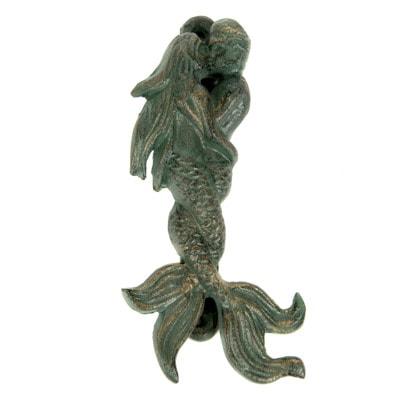 U 4734 Kissing Mermaids Door Knocker 6 18