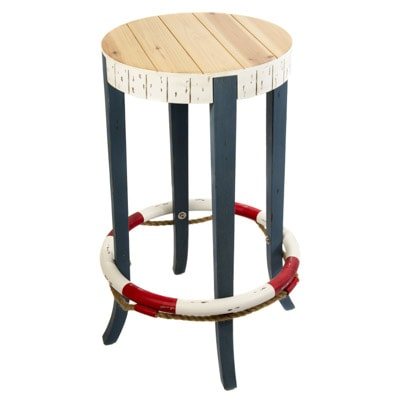 Round Nautical Bar Stool Globe Imports