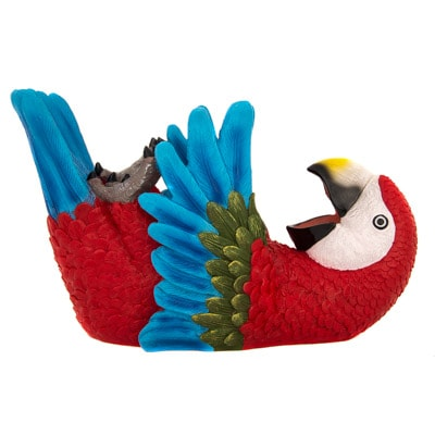 Drinking Red Parrot Wine Bottle Holder Globe Imports