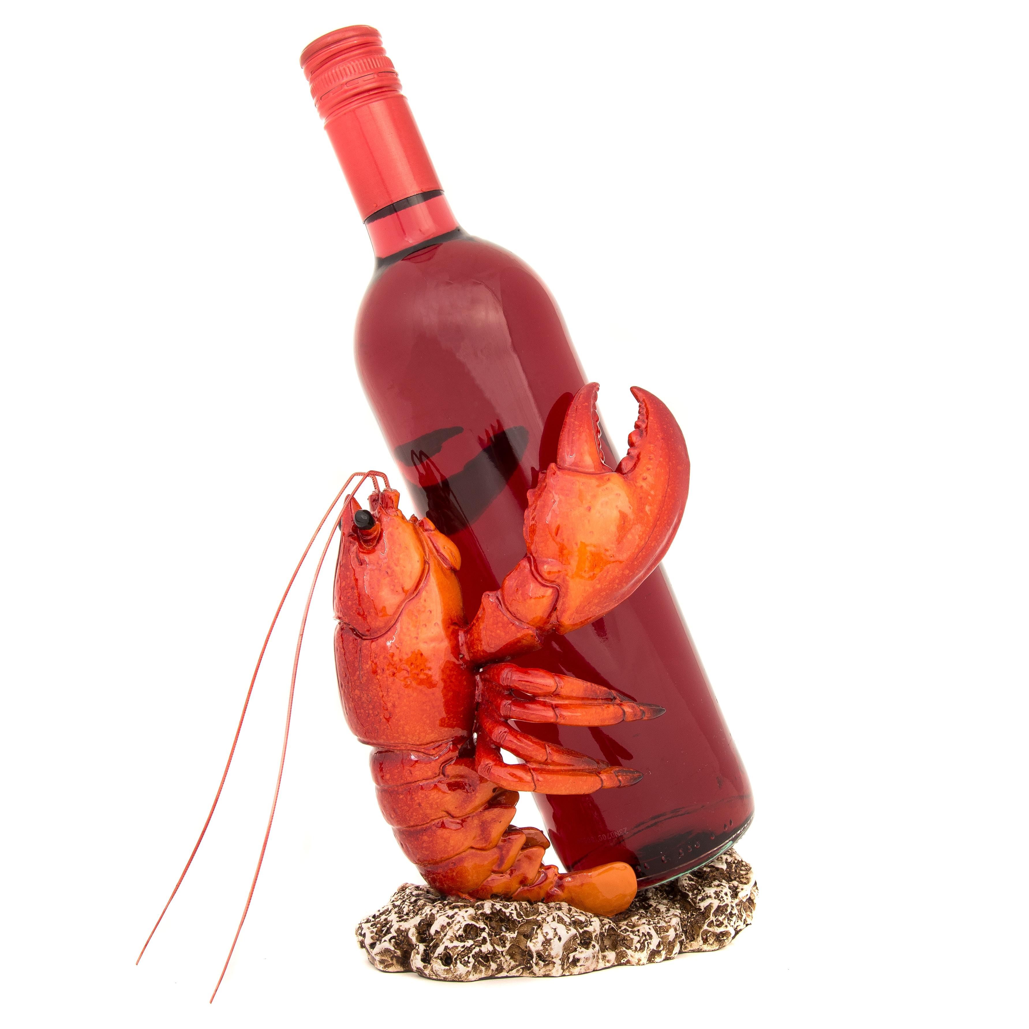 Lobster Wine Bottle Holder Globe Imports