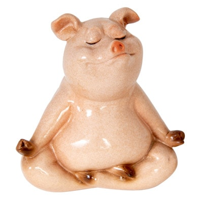 Meditating Pig FIGURINE