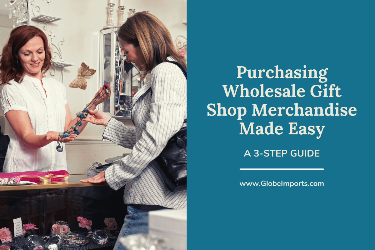 woman and shop owner in gift shop with wholesale home decor merchandise